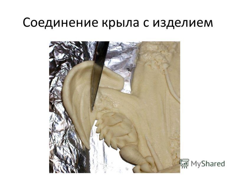 Соединение крыла с изделием