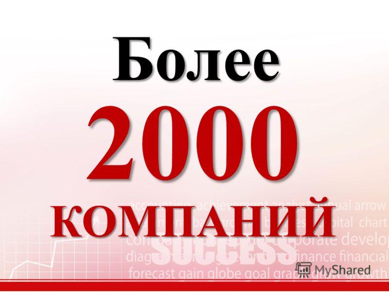 Более 2000 КОМПАНИЙ