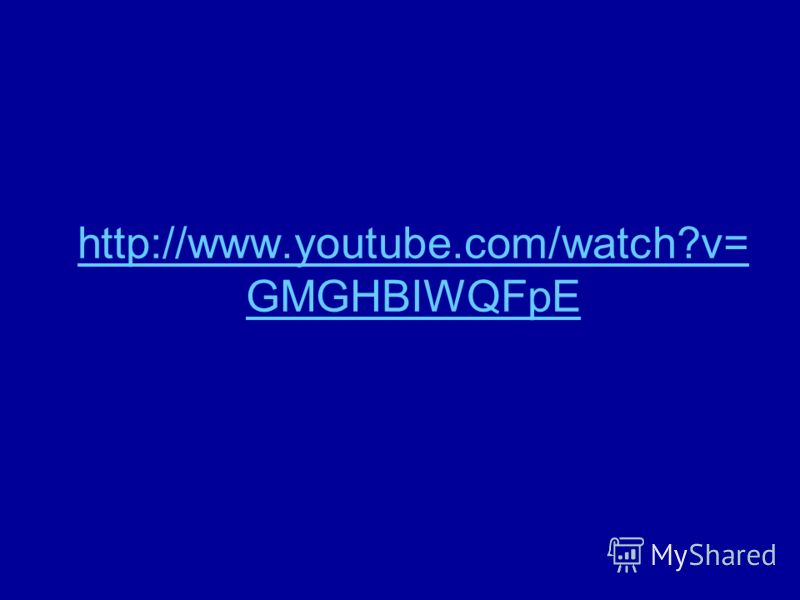 http://www.youtube.com/watch?v= GMGHBIWQFpE