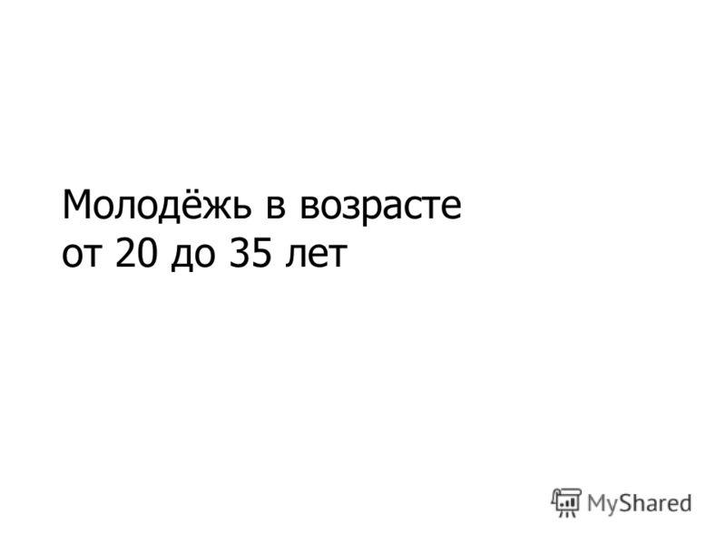 Молодёжь в возрасте от 20 до 35 лет
