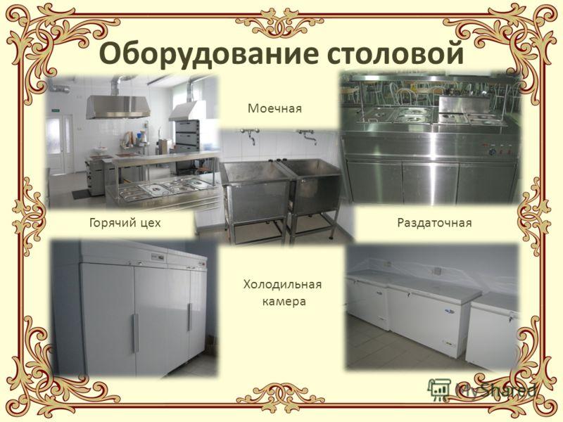 Оборудование столовой Горячий цехРаздаточная Холодильная камера Моечная