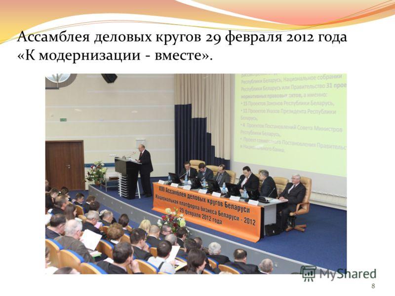 Ассамблея деловых кругов 2 марта 2011 года «Предпринимательство Беларуси – обеспечение роста и развития». 7