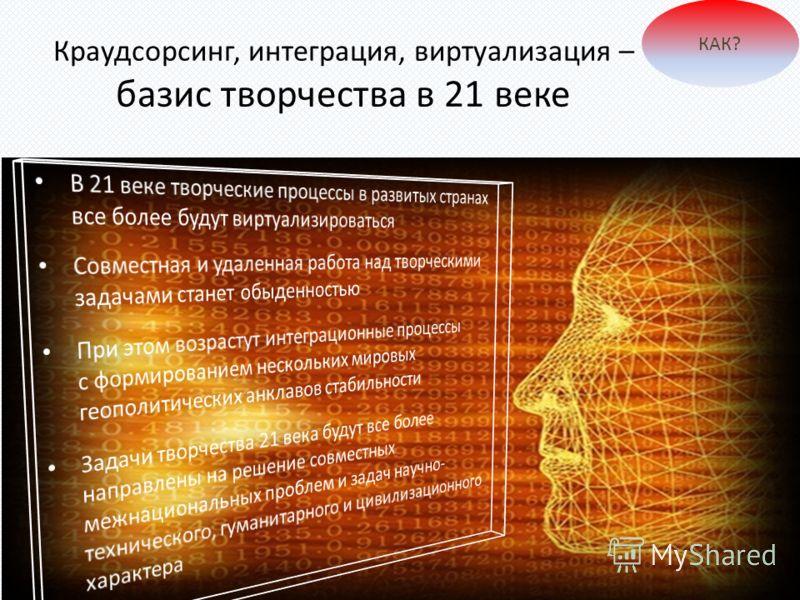 Краудсорсинг, интеграция, виртуализация – базис творчества в 21 веке КАК?