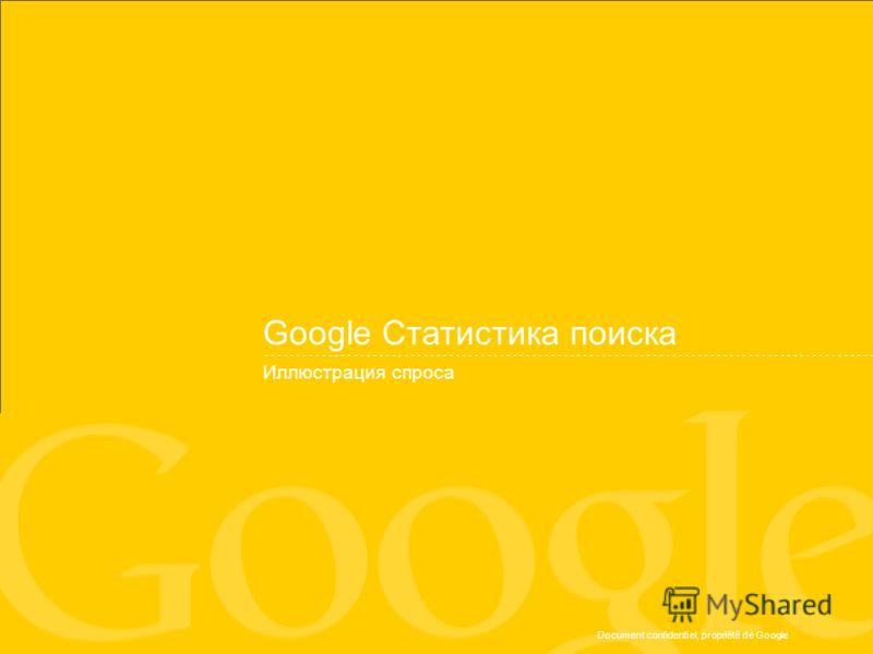 Document confidentiel, propriété de Google Google Статистика поиска Иллюстрация спроса