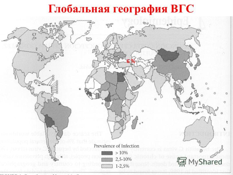 Глобальная география ВГС 6 %