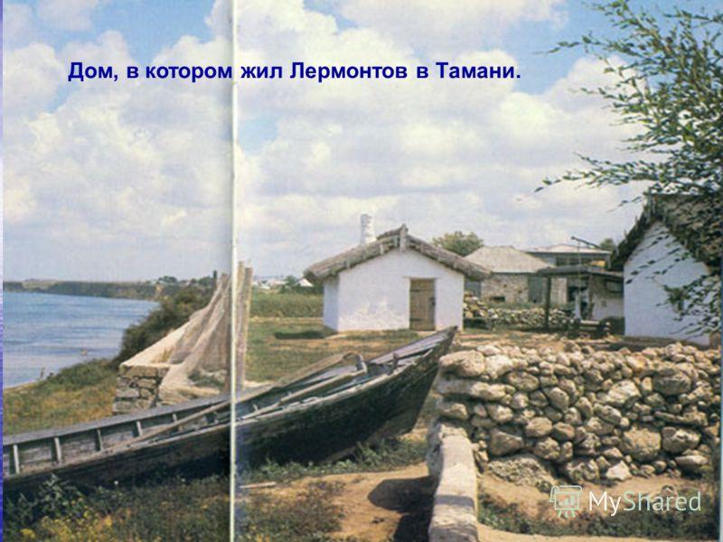 Дом, в котором жил Лермонтов в Тамани.