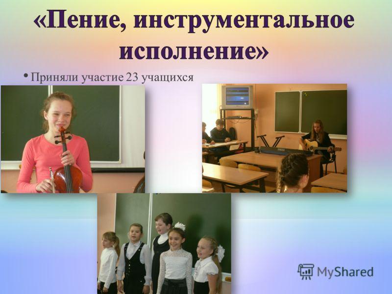 Приняли участие 23 учащихся