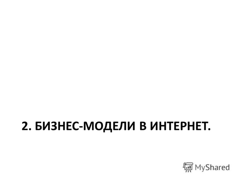 2. БИЗНЕС-МОДЕЛИ В ИНТЕРНЕТ.