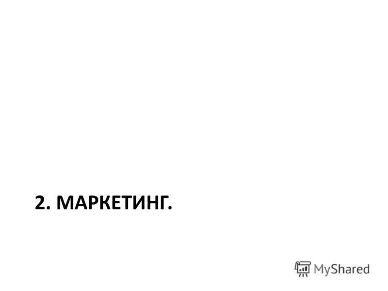 2. МАРКЕТИНГ.