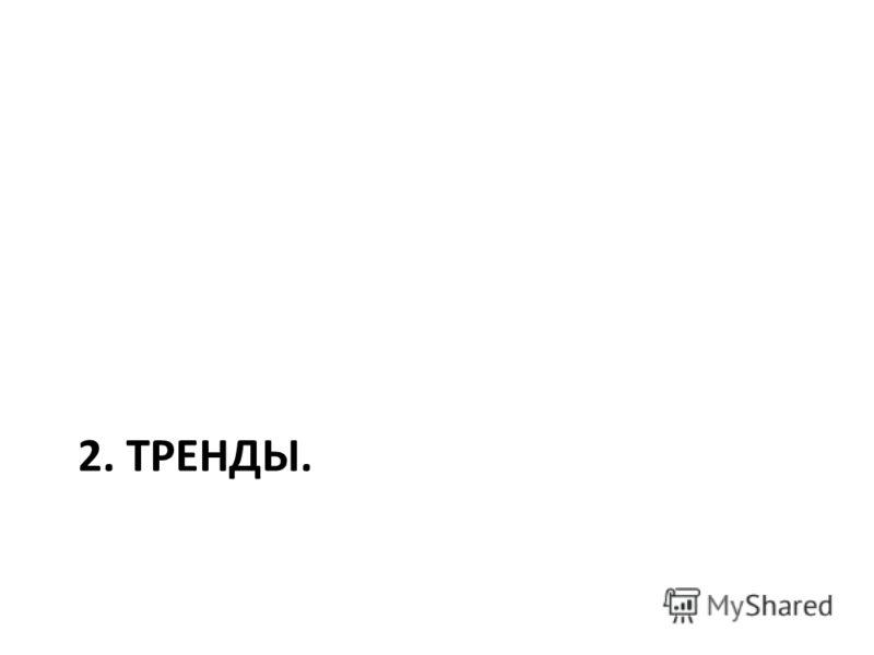 2. ТРЕНДЫ.