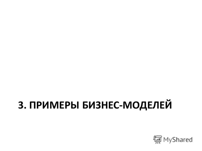 3. ПРИМЕРЫ БИЗНЕС-МОДЕЛЕЙ