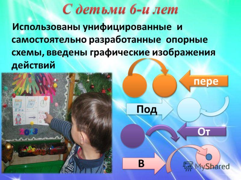 Использованы унифицированные и самостоятельно разработанные опорные схемы, введены графические изображения действий пере Под От * * В В