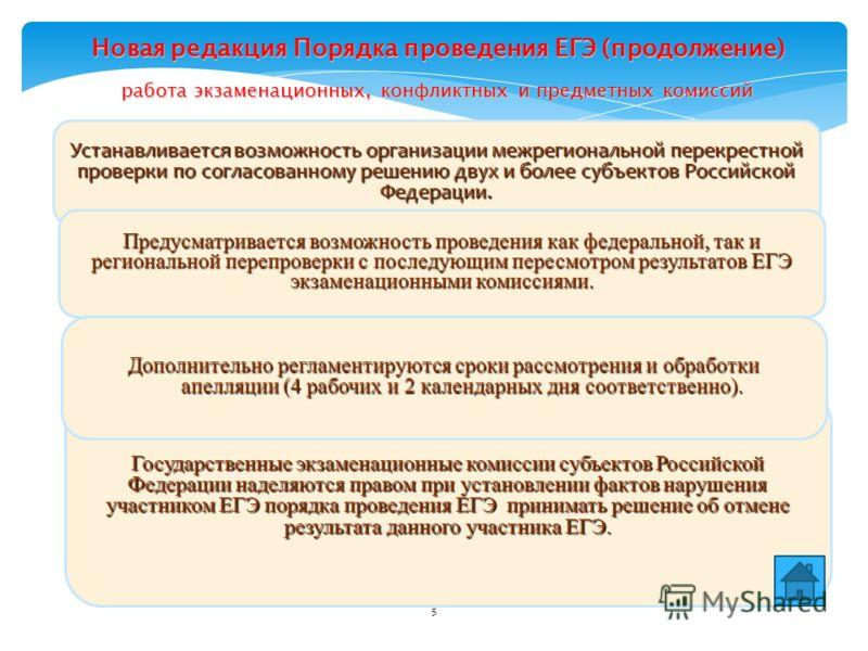 5 Устанавливается возможность организации межрегиональной перекрестной проверки по согласованному решению двух и более субъектов Российской Федерации. Предусматривается возможность проведения как федеральной, так и региональной перепроверки с последу