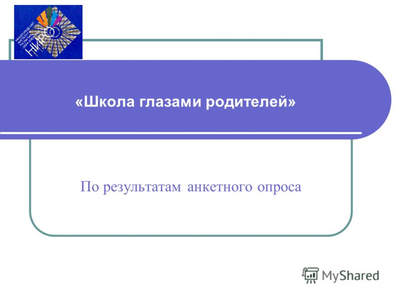 «Школа глазами родителей» По результатам анкетного опроса
