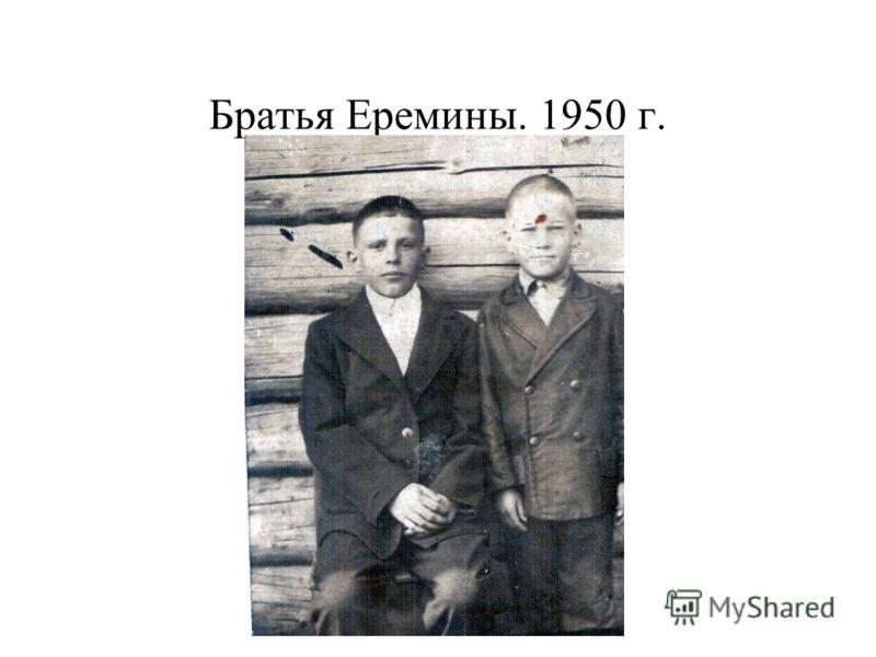 Братья Еремины. 1950 г.