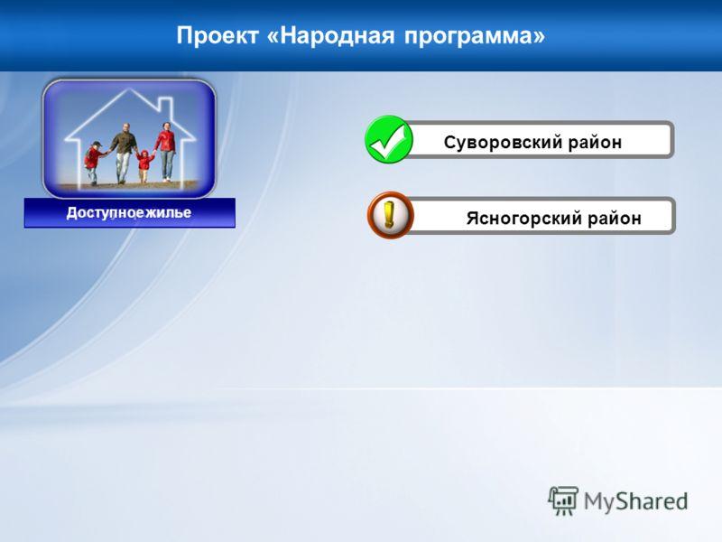 Проект «Народная программа» Ясногорский район Благоустройство Доступное жилье Суворовский район
