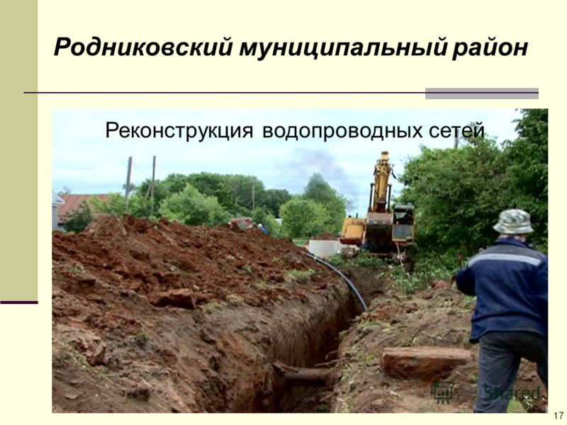 Родниковский муниципальный район Реконструкция водопроводных сетей 17