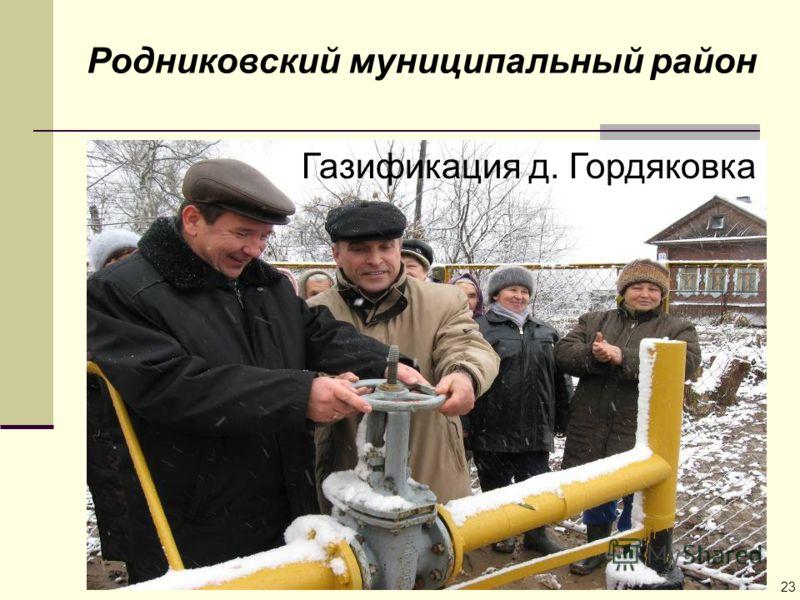 Родниковский муниципальный район Газификация д. Гордяковка 23