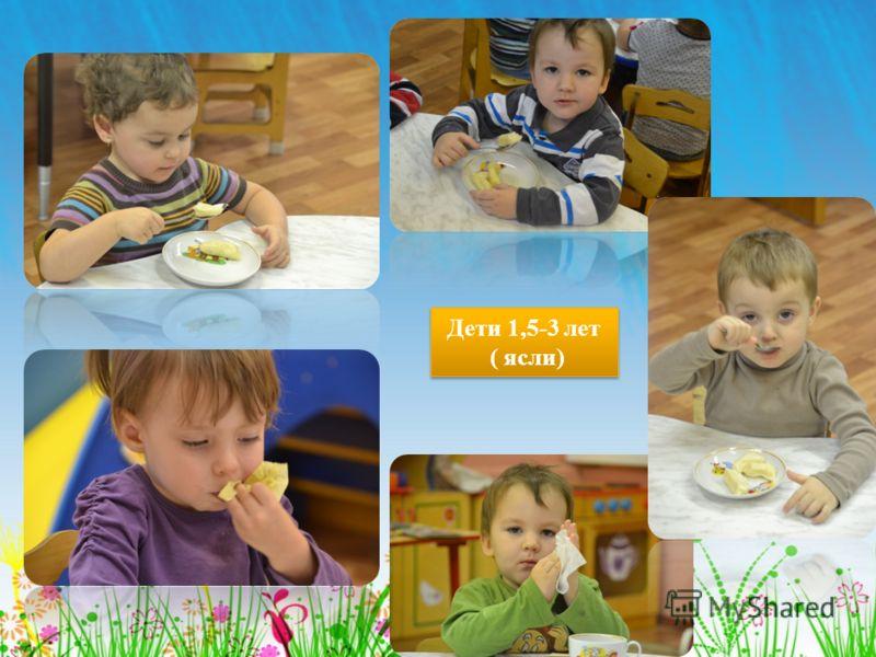 Дети 1,5-3 лет ( ясли) Дети 1,5-3 лет ( ясли)
