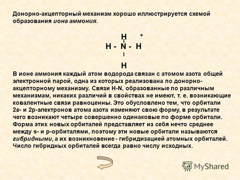 H + H - N - H H В ионе аммония