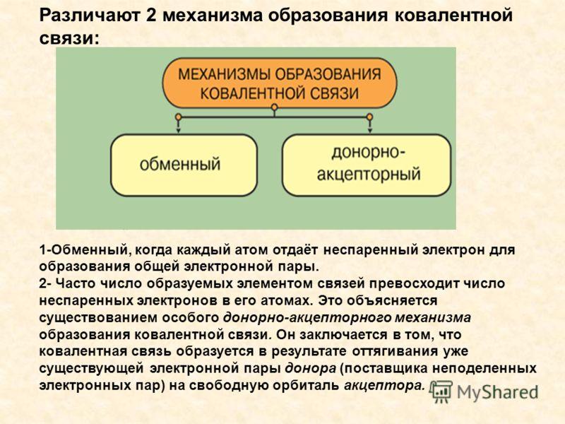 Различают 2 механизма