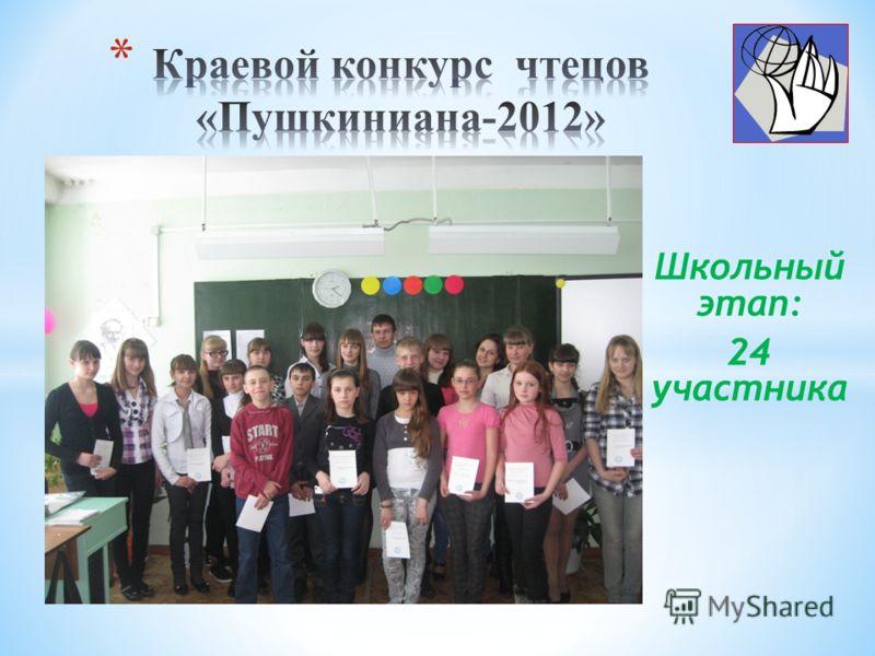 Школьный этап: 24 участника