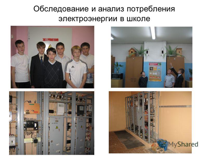 Обследование и анализ потребления электроэнергии в школе