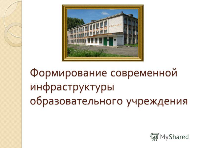 Формирование современной инфраструктуры образовательного учреждения