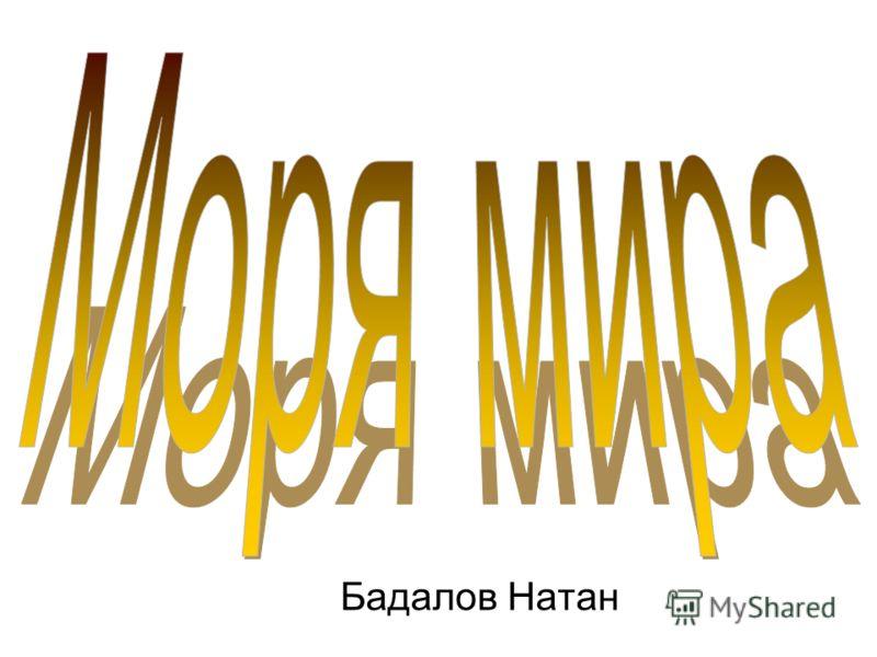 Бадалов Натан