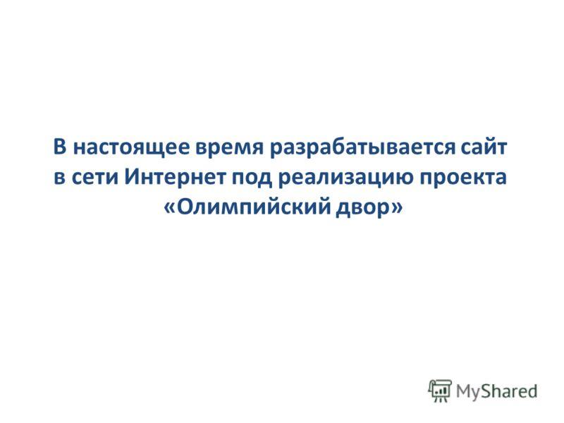 В настоящее время разрабатывается сайт в сети Интернет под реализацию проекта «Олимпийский двор»