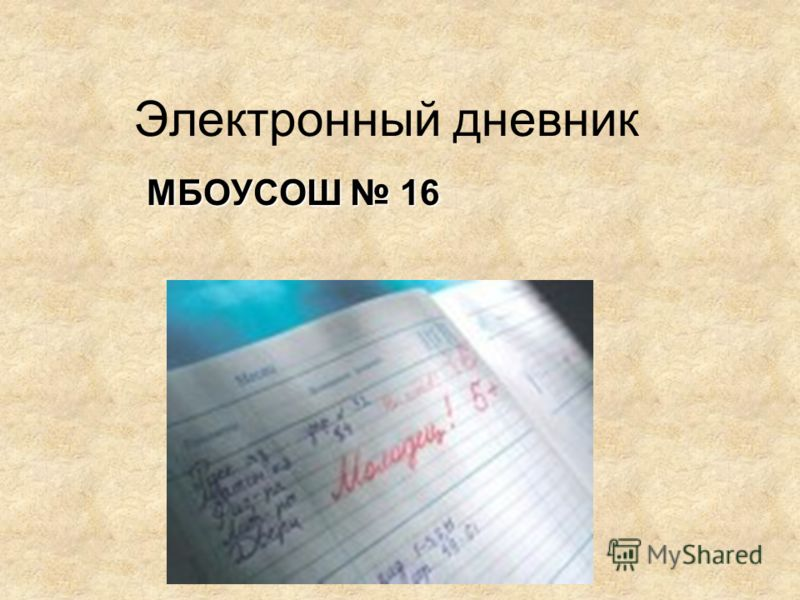 Электронный дневник МБОУСОШ 16