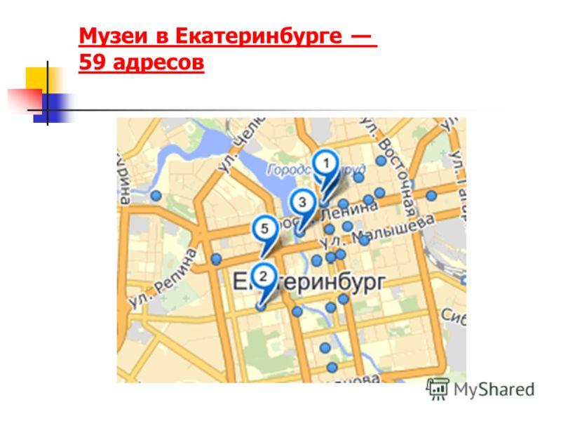Музеи в Екатеринбурге 59 адресов