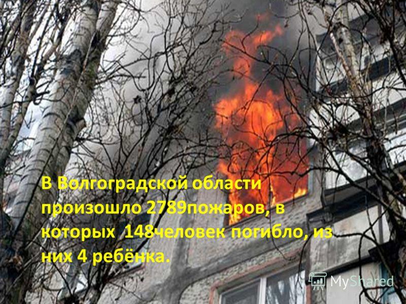 В Волгоградской области произошло 2789пожаров, в которых 148человек погибло, из них 4 ребёнка.