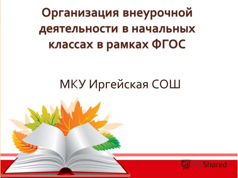 Организация внеурочной деятельности в начальных классах в рамках ФГОС МКУ Иргейская СОШ