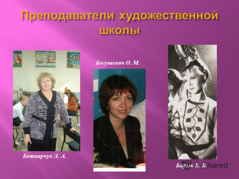 Ботнарчук Л. А. Богушевич О. М. Бирюк В. В.