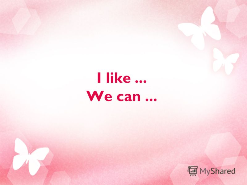 I like... We can...