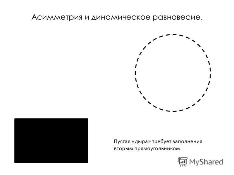 Асимметрия и динамическое равновесие. Пустая «дыра» требует заполнения вторым прямоугольником