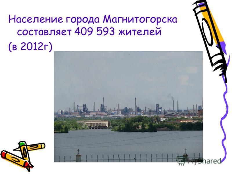 Население города Магнитогорска составляет 409 593 жителей (в 2012г)