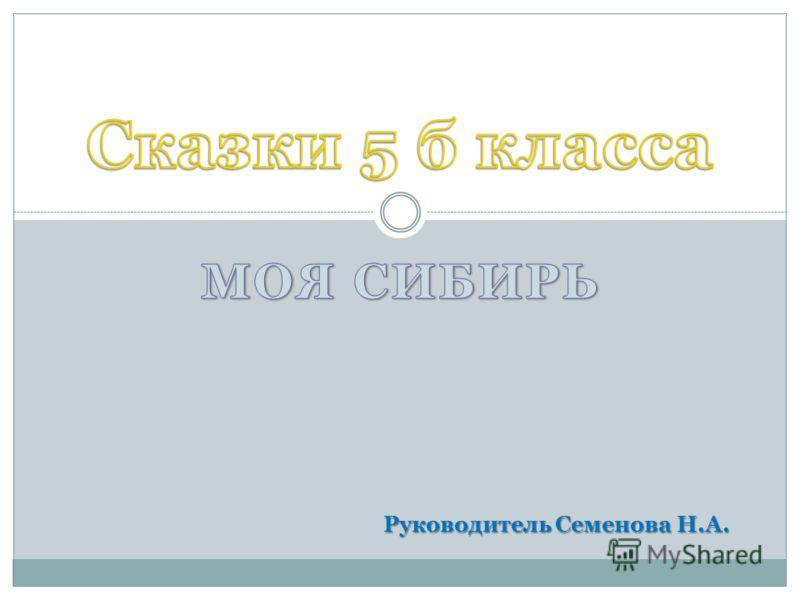 Руководитель Семенова Н.А.