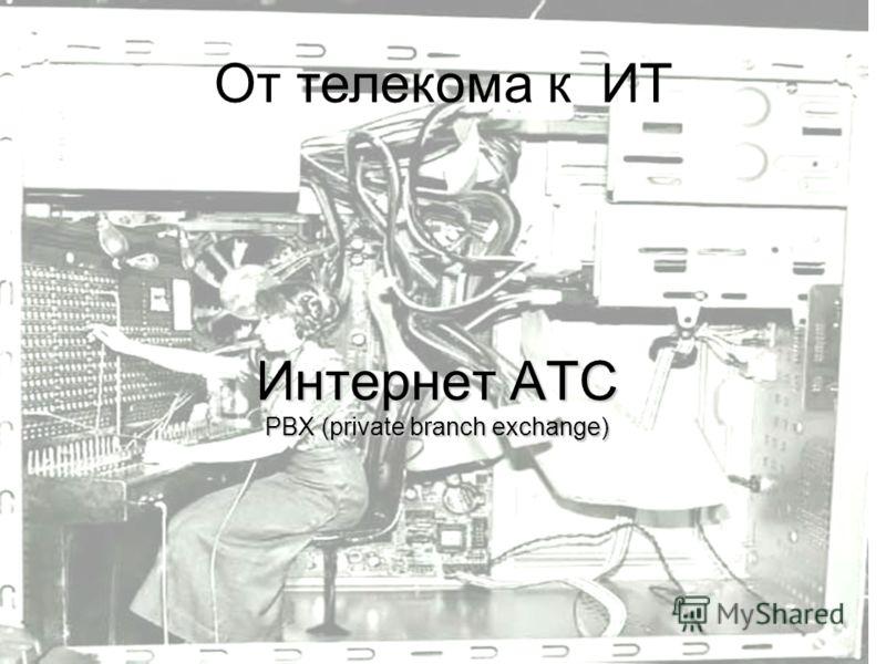 Интернет АТС PBX (private branch exchange) От телекома к ИТ