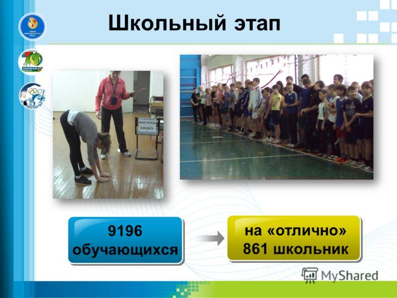 Школьный этап Text in here 9196 обучающихся на «отлично» 861 школьник