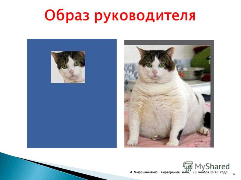 6 Образ руководителя А.Мирошниченко. Серебряные нити, 23 ноября 2012 года
