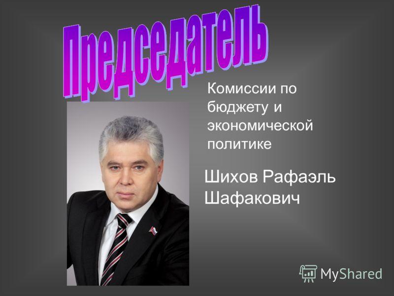 Комиссии по бюджету и экономической политике Шихов Рафаэль Шафакович