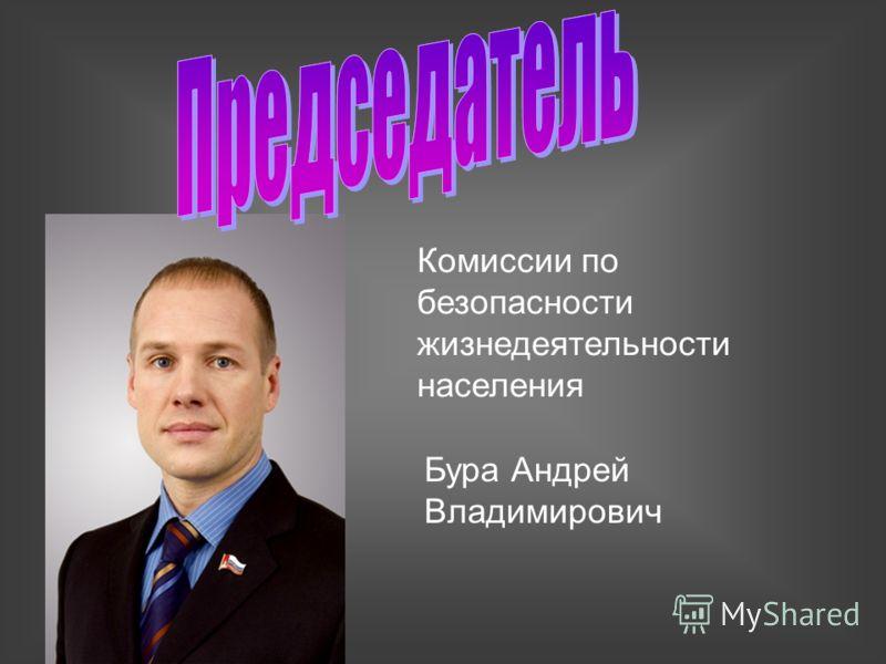 Комиссии по безопасности жизнедеятельности населения Бура Андрей Владимирович