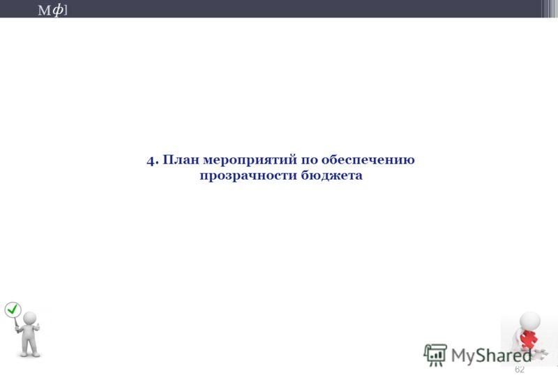 М ] ф М ] ф 62 4. План мероприятий по обеспечению прозрачности бюджета