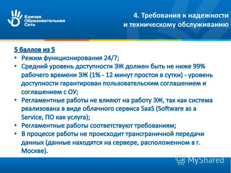4. Требования к надежности и техническому обслуживанию