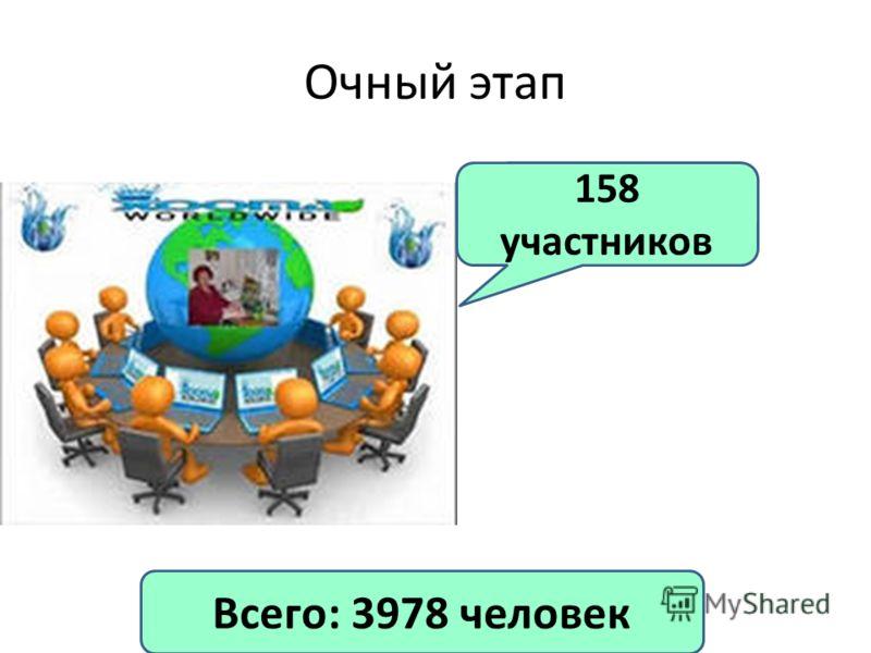 Очный этап 158 участников Всего: 3978 человек