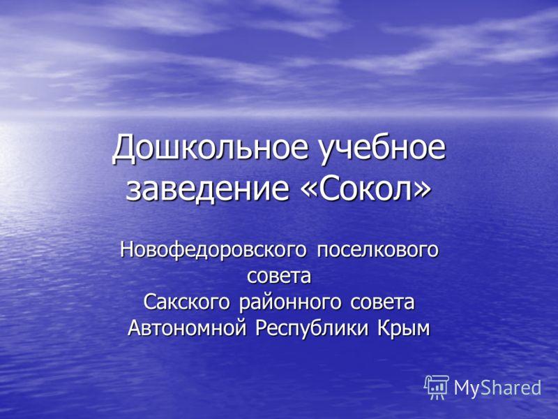 Дошкольное учебное заведение «Сокол» Новофедоровского поселкового совета Сакского районного совета Автономной Республики Крым