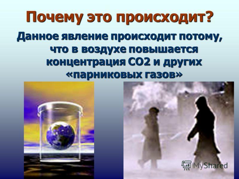 Почему это происходит? Данное явление происходит потому, что в воздухе повышается концентрация СО2 и других «парниковых газов»