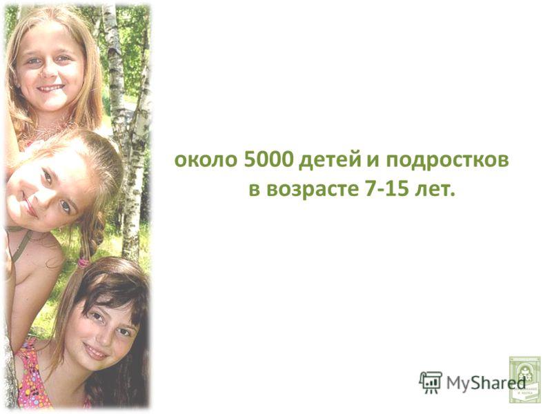 около 5000 детей и подростков в возрасте 7-15 лет.